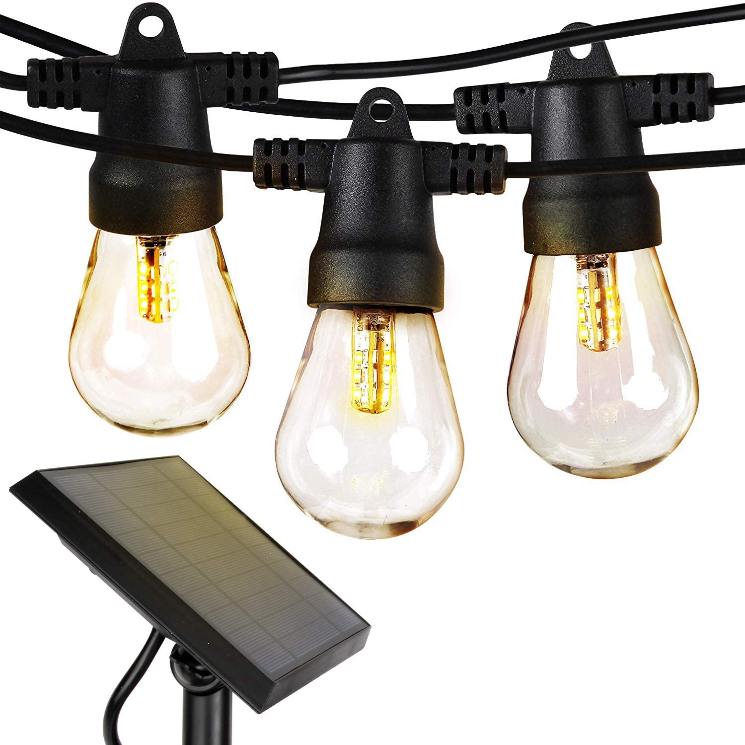 Brighttech Ambience Pro Solar-Powered Outdoor LED String Lights