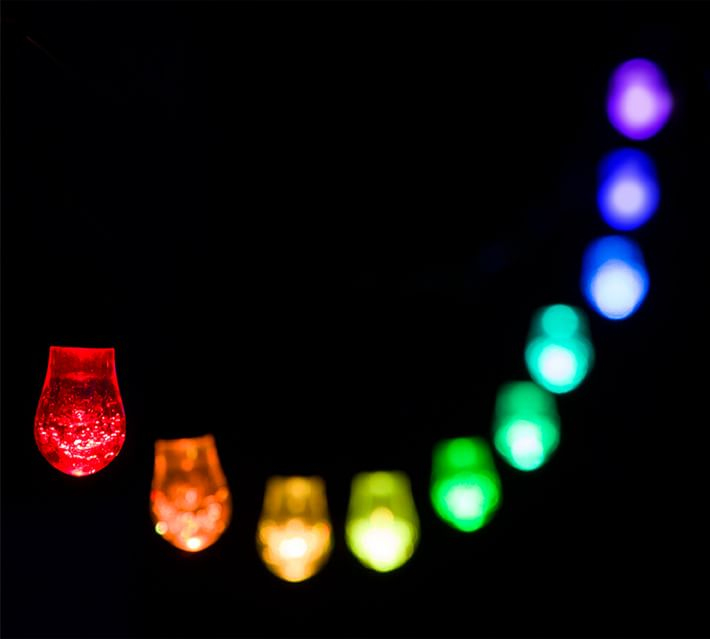 Pottery Barn Solar-Powered Color-Changing LED String Lights