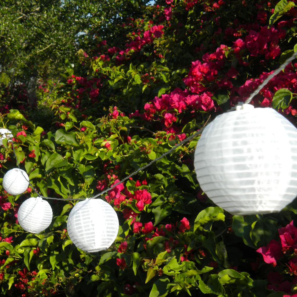 West Elm Soji Lantern Solar String Lights