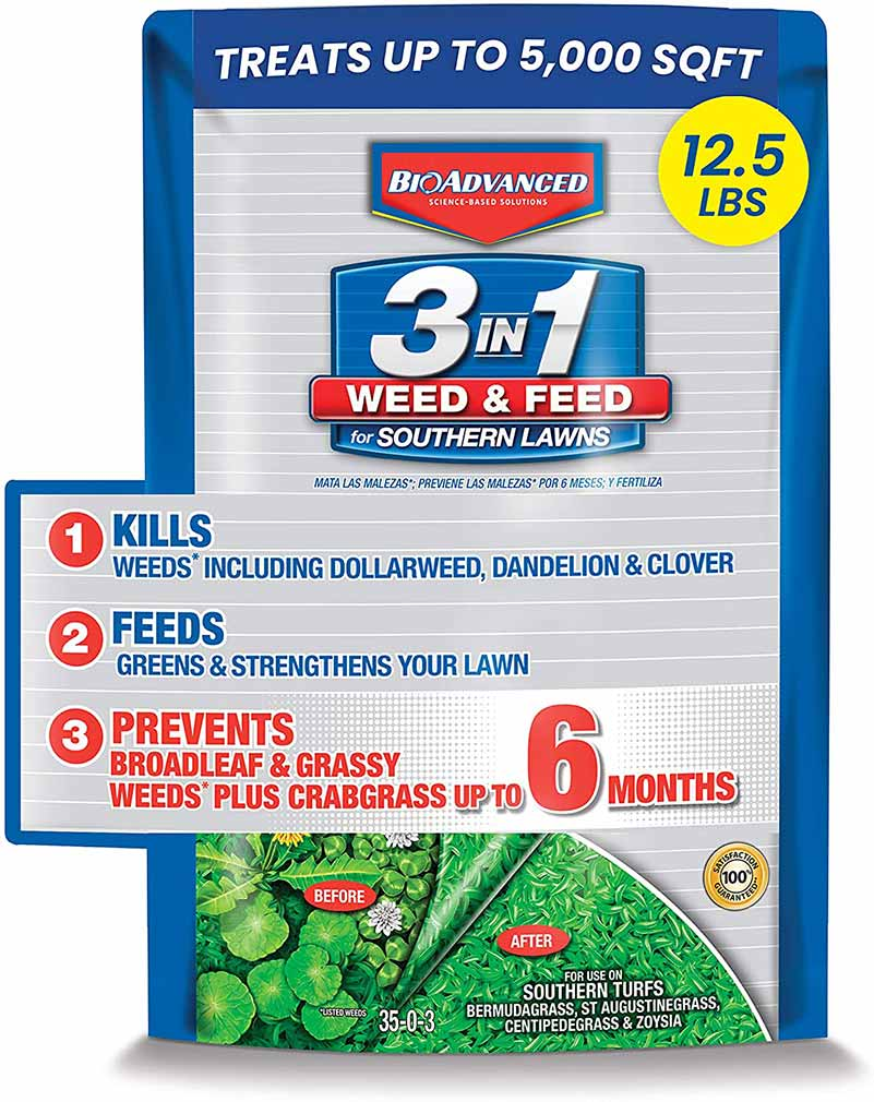 BioAdvanced 3-in-1 Weed and Feed for Southern Lawns