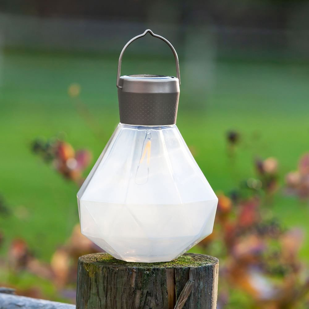 West Elm Solar Gem Cut Glass Lantern Accent Light