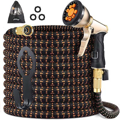 Allkeys 5-in-1 Heavy-Duty Expandable Gardening Hose with Nine-Function Spray Nozzle